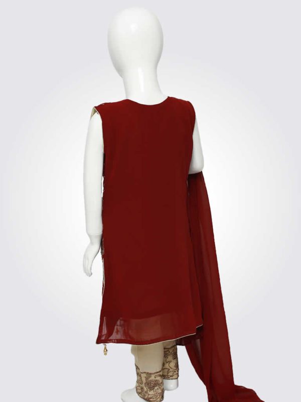 Deep Red Faux Angrakha