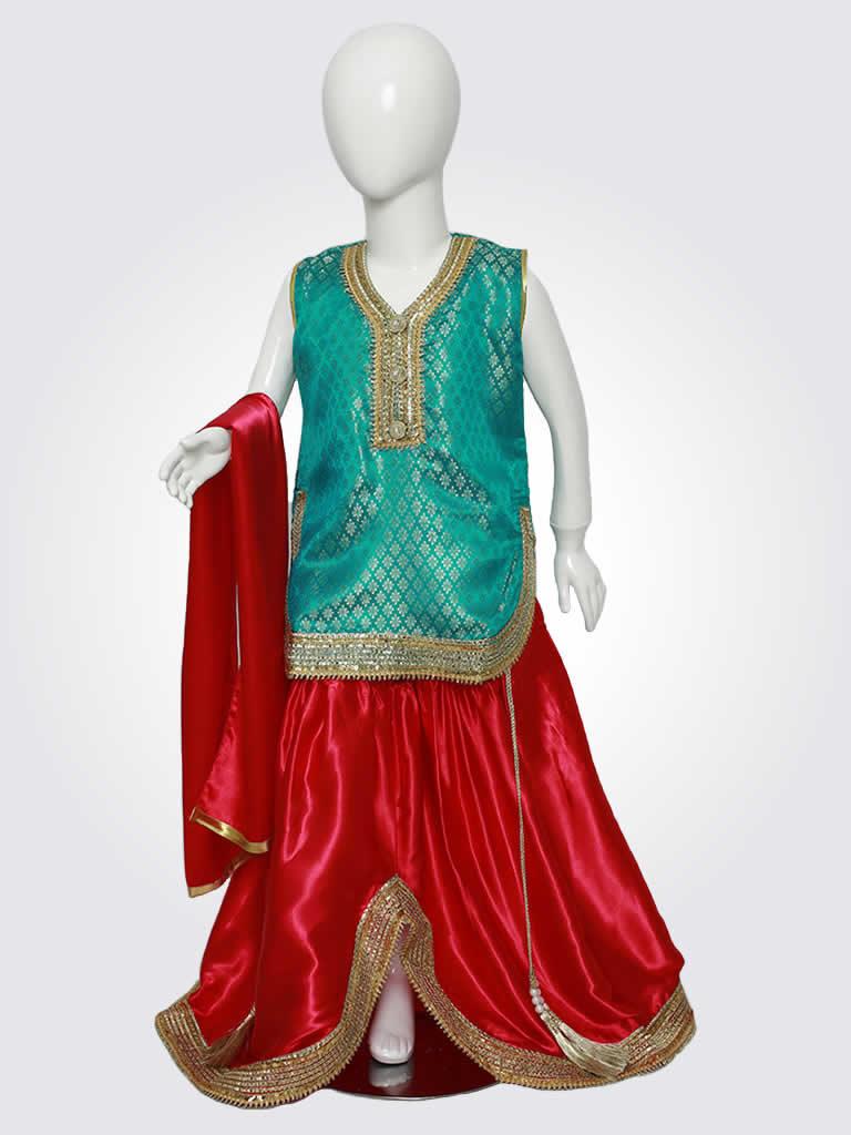 Green Red Punjabi Laacha