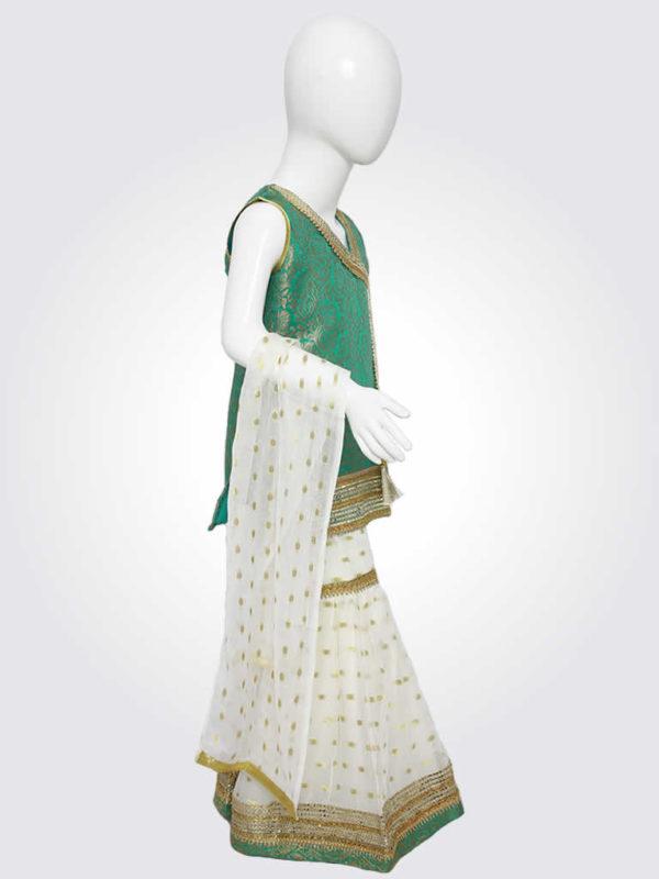 Green White Gharara