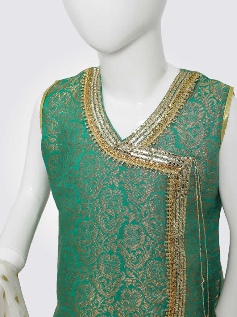 Green White Gharara