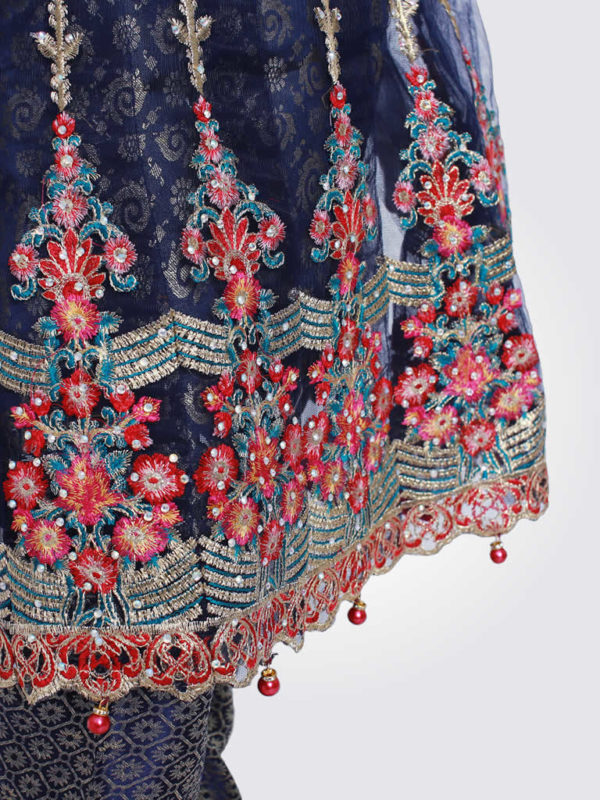 Navy Blue Anarkali Frock