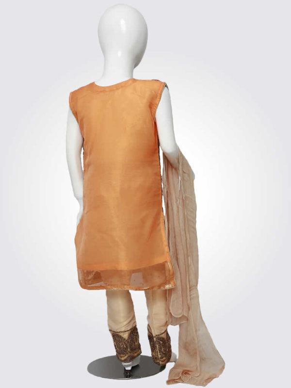 Orange Embroidered Kurta Pajama