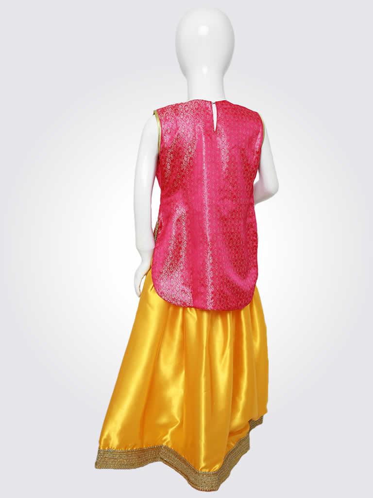 Pink Yellow Punjabi Laacha