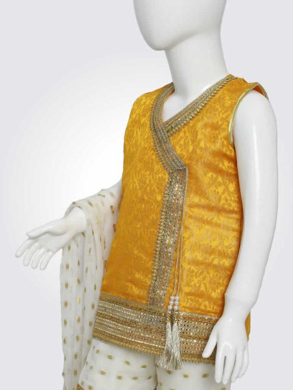 Yellow White Gharara