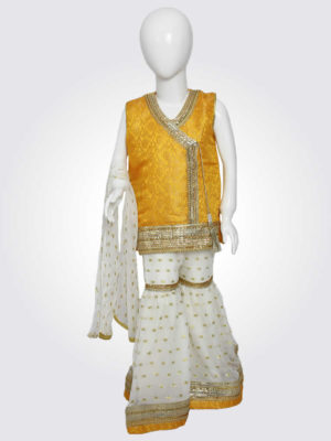 Yellow White Gharara