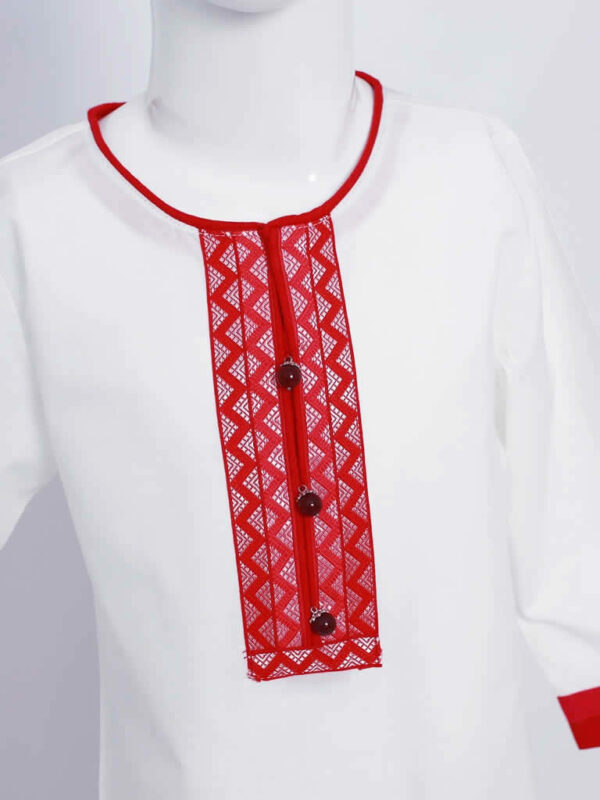 White Tunic Embroidered Top2