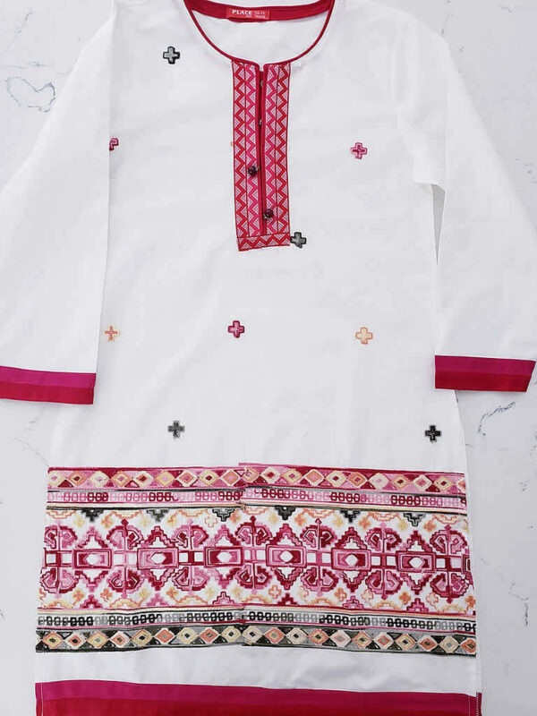 White Tunic Embroidered Top4