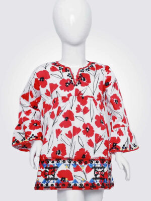 Radiant Red Poppy Top